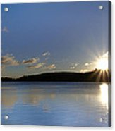 Boulder Lake At Sunrise Acrylic Print