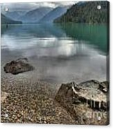 Boulders On The Edge Of Cheakamus Lake Acrylic Print