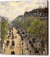 Boulevard Montmarte Acrylic Print