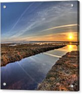 Boundary Bay B.c Sunset Acrylic Print