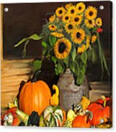 Bountiful Harvest - Floral Painting Acrylic Print