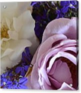 Roses And Violets  Acrylic Print