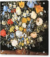 Bouquet In A Clay Vase Acrylic Print