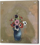 Bouquet Of Anemones Acrylic Print by Odilon Redon