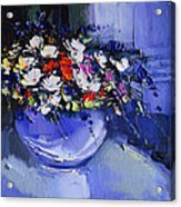 Bouquet Of Daisies And Chrysanthemums Acrylic Print