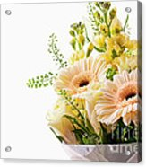 Bouquet Of Flowers On White Background Acrylic Print