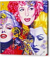 Bouquet Of Marilyn Acrylic Print by Rebecca Glaze