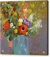 Bouquet Of Wild Flowers  Acrylic Print by Odilon Redon