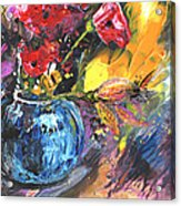 Bouquet With Black Tulip Acrylic Print