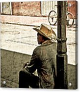 Bourbon Cowboy In New Orleans Acrylic Print