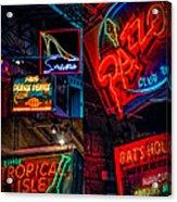 Bourbon St. Neon - Nola Acrylic Print