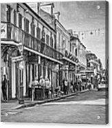 Bourbon Street Afternoon - Paint Bw Acrylic Print