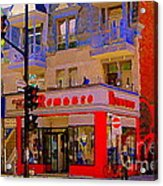 Boutique Erotique Romance Mont Royal The Love You Make Is Equal To The Love You Take City Scene Art Acrylic Print