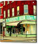Boutique Fleuriste Coin Vert St Henri Flower Shop Notre Dame Montreal Urban Scenes Carole Spandau  Acrylic Print
