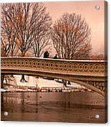Bow Bridge Panorama Acrylic Print