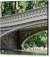 Bow Bridge Texture - Nyc Acrylic Print
