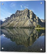 Bow Lake And Crowfoot Mts Banff Acrylic Print