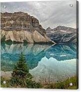 Bow Lake Pano Banff National Park Acrylic Print
