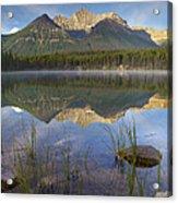 Bow Range And Herbert Lake Banff Acrylic Print