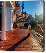 Bow Street Shops Acrylic Print