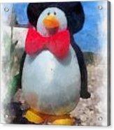 Bow Tie Penguin Photo Art Acrylic Print