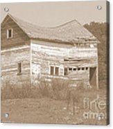 Bowed And Lonely Barn Acrylic Print