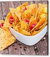 Bowl Filled With Nachos Acrylic Print