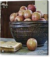 Bowl Of Apples Acrylic Print