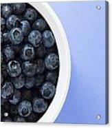 Bowl Of Blueberries Acrylic Print by Steven Raniszewski