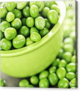 Bowl Of Green Peas Acrylic Print by Elena Elisseeva