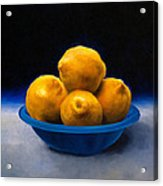 Bowl Of Lemons Acrylic Print