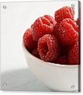 Bowl Of Raspberries Acrylic Print