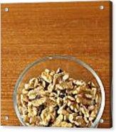 Bowl Of Shelled Walnuts Acrylic Print