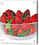 Bowl Of Strawberries Acrylic Print