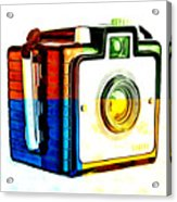 Box Camera Pop Art 3 Acrylic Print