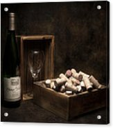 Box Of Wine Corks Still Life Acrylic Print