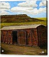 Boxcar On The Plains Acrylic Print