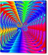 Boxed Rainbow Swirls 2 Acrylic Print