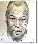 Boxer And Actor Mike Tyson Acrylic Print
