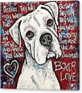 Boxer Love Acrylic Print by Stephanie Gerace