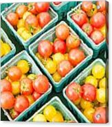 Boxes Of Cherry Tomatoes On Display Acrylic Print