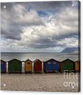 Boxes On The Beach Acrylic Print