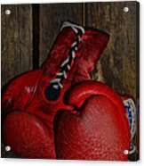 Boxing Gloves Worn Out Acrylic Print by Paul Ward