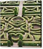 Boxwood Garden - Chateau Villandry Acrylic Print