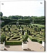 Boxwood Garden Design - Chateau Villandry Acrylic Print