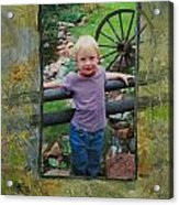 Boy By Fence Acrylic Print