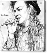 Boy George Art Drawing Sketch Portrait Acrylic Print