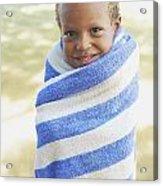 Boy In Towel Acrylic Print by Kicka Witte