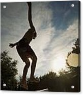 Boy Jumping Off Diving Board Acrylic Print