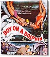 Boy On A Dolphin, Us Poster, Center Acrylic Print